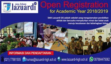 Pendaftaran Siswa Baru SMA LAZUARDI GIS 2018-2019