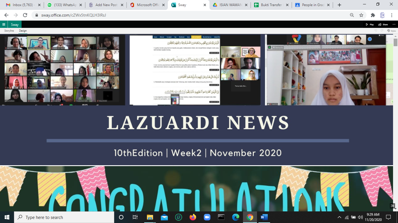 LazNews: 10th Edition/Week2/November 2020
