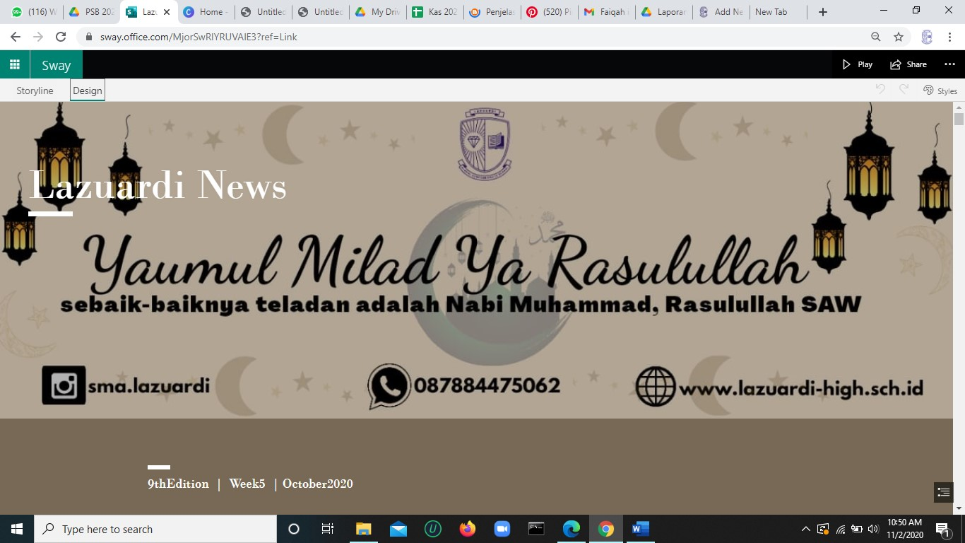 Lazuardi News : 9thEdition  |  Week5  | October 2020
