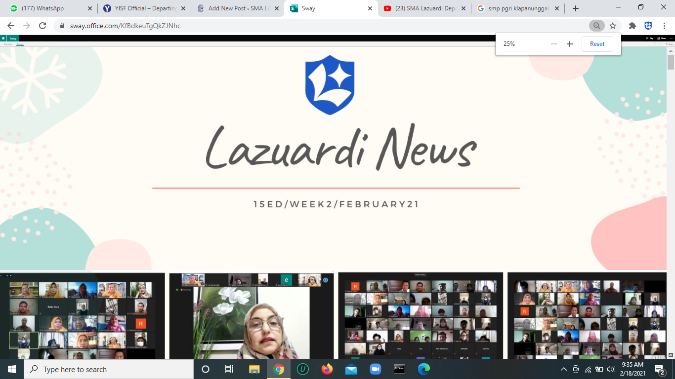 Lazuardi News: 15Ed/week2/February2021