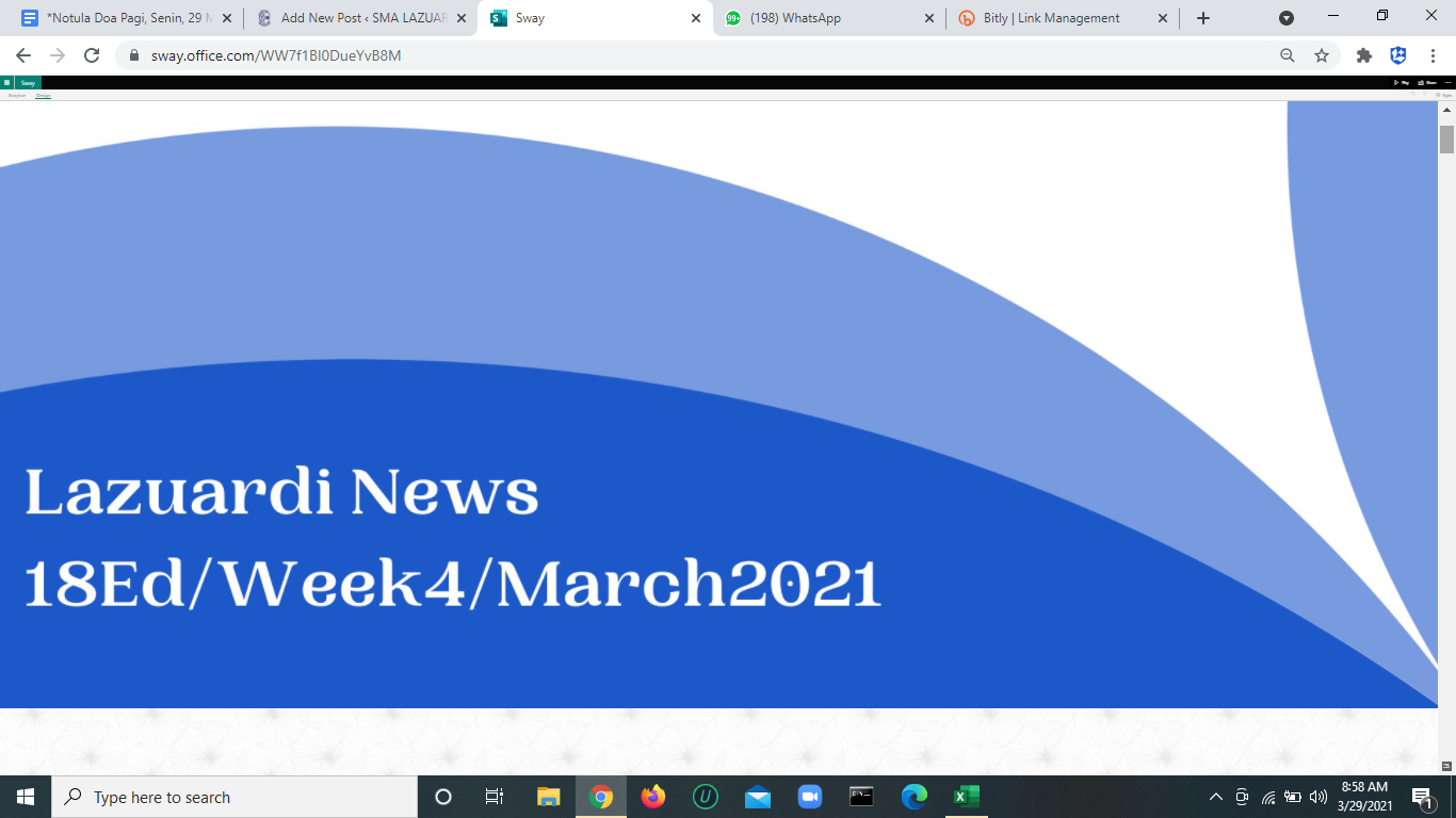Lazuardi News Edisi 18: Week4-March2021